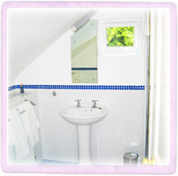 Picture of the ensuite that is part of the 'blue' twin room